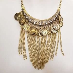 Jewelry - Tribal Golden Coin Necklace
